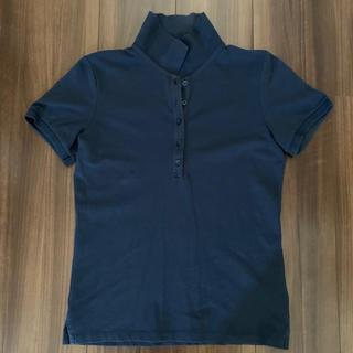 ユニクロ(UNIQLO)のポロシャツ レディースM ユニクロ UNIQLO 紺色(ポロシャツ)