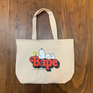 アベイシングエイプ(A BATHING APE)のスヌーピー BAPE KIDS トートバッグ リバーシブル(トートバッグ)