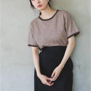 Kastane - カスタネ 【新品】リンガーボーダーTシャツ