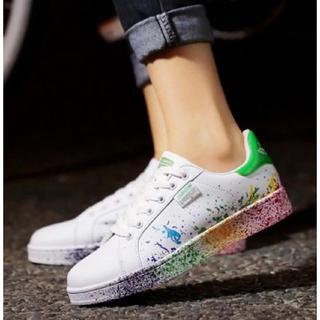 アディダス(adidas)の即購入ok男女兼用カラフルスニーカー韓流adidas緑好きに♪スタンスミス(スニーカー)