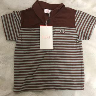 エル(ELLE)の[新品未使用]ELLE ストライプポロシャツ サイズ100(Tシャツ/カットソー)