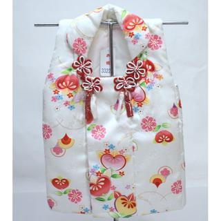七五三 三歳 女児 正絹 被布コート 単品 NO33220 (和服/着物)