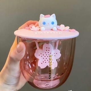 Starbucks Coffee - スターバックス 中国 桜 猫茶こし グラス