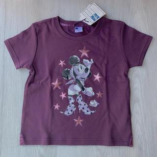 ディズニー(Disney)の◆未着用◆ガールズ ミニーちゃん Tシャツ◆120cm◆パープル◆綿100%◆(Tシャツ/カットソー)