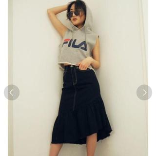 ジェイダ(GYDA)のGYDAフリルロングスカート新品(ひざ丈スカート)