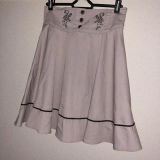 アクシーズファム(axes femme)のaxes femme ベストドッキングスカート フレアスカート レトロ 刺繍(ひざ丈スカート)
