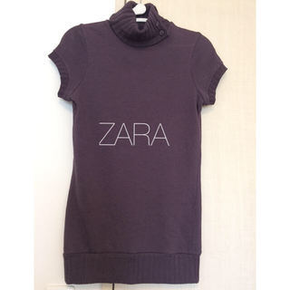 ザラ(ZARA)のザラ ニットブラウス S サイズ パープル ZARA(シャツ/ブラウス(半袖/袖なし))