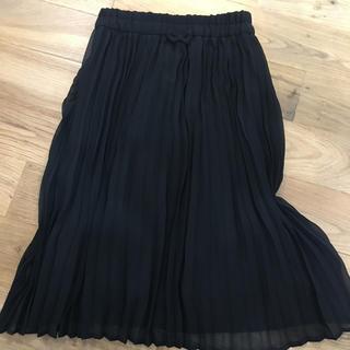 ジーユー(GU)のGU 黒プリーツスカート130cm(スカート)