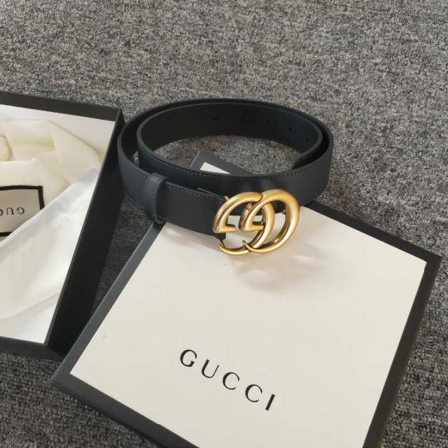 Gucci(グッチ)のGucci★GGバックル レザーベルト3cm幅 レディースのファッション小物(ベルト)の商品写真