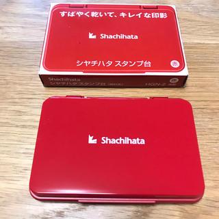 シャチハタ(Shachihata)のShachihata シャチハタ スタンプ台 スタンプ 中形 インク 赤 レッド(印鑑/スタンプ/朱肉)