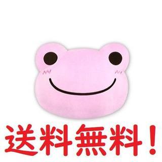 かえるのピクルス フェイス クッション こもも ピンク PINK(クッション)