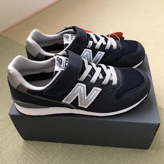 New Balance - ニューバランス キッズスニーカー 24.0 ネイビー