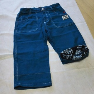 HANG TEN - 140㎝男の子ハーフパンツ綺麗で鮮やかなブルー‼裾折ると柄が見えてキュートです!