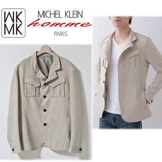エムケーミッシェルクランオム(MK MICHEL KLEIN homme)の《ミッシェルクランオム》新品 ストレッチテーラードジャケット 51サイズ(LL)(テーラードジャケット)