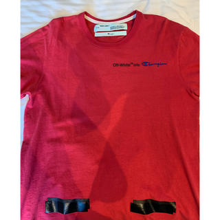 OFF-WHITE - 最安値‼️offwhite champion tee Red