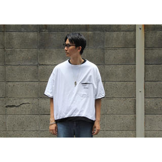 SUNSEA - NEON SIGN SANDWICH T-SHIRT