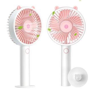 充電式 USB扇風機 卓上 手持ち ミニファン 3段階風量調節 静音 ピンク(電気ヒーター)