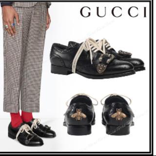 Gucci - 定価16万 グッチ gucci ディオニュソス ビー 革靴 レースアップ