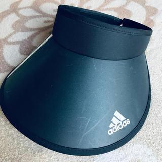 アディダス(adidas)のアディダス 黒サンバイザー(サンバイザー)