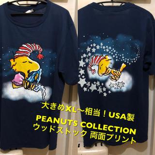 ピーナッツ(PEANUTS)の大きめXL〜相当!USA製 PEANUTS ウッドストック 古着半袖Tシャツ(Tシャツ/カットソー(半袖/袖なし))