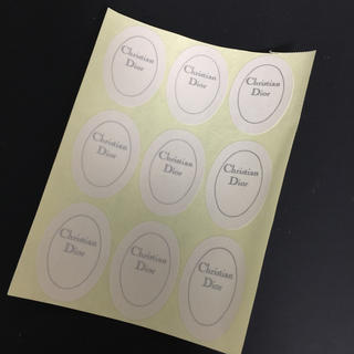 クリスチャンディオール(Christian Dior)のChristian Dior ショップシール 9枚(シール)