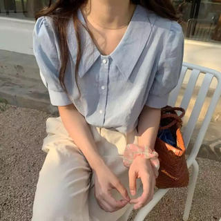 dholic - 韓国 レディース 半袖 シャツ