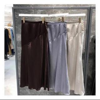 フレイアイディー(FRAY I.D)のサイドボタンナロースカート(限定お値引)(ロングスカート)