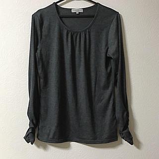 シマムラ(しまむら)のクルーネック ロンT グレー LL(Tシャツ(長袖/七分))
