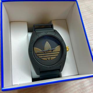 アディダス(adidas)のadidas 黒✖️ゴールド 時計⌚️✨(腕時計)