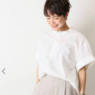 Spick and Span - 【Spick and Span】パールボタンタックスリーブシャツ(ホワイト)