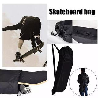 【スケボーバック】肩掛けバックスケートボード アイテムブラック【送料無料】(スケートボード)