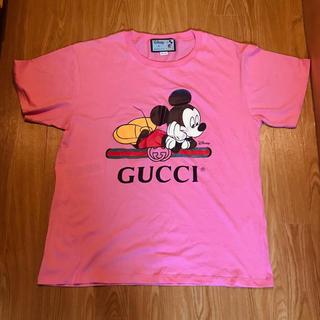 Gucci - GUCCI ミッキー ディズニー Tシャツ ピンク グッチ