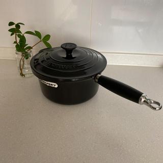 ルクルーゼ(LE CREUSET)のルクルーゼ   ソースパン  20cm ブラック(鍋/フライパン)