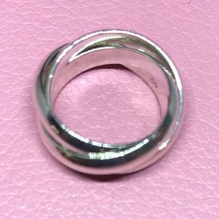 silver925三連リング  シルバー925 銀 シンプル ギフト トリニティ(リング(指輪))