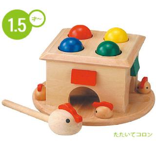 たたいてコロン エド・インター 森のあそび道具 木製おもちゃ 知育玩具