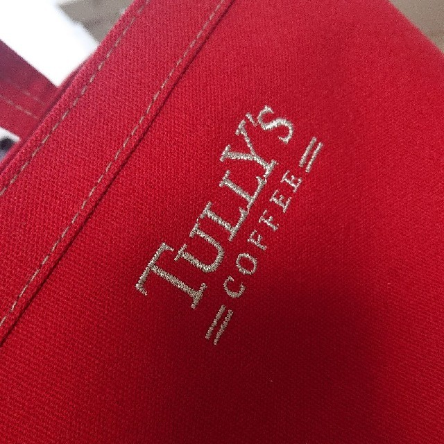 TULLY'S COFFEE(タリーズコーヒー)のTULLY'S COFFEE真っ赤トートバッグ布 レディースのバッグ(トートバッグ)の商品写真