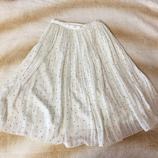 MERCURYDUO - ドット柄透け感プリーツスカート