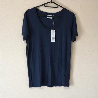 アドリアーノゴールドシュミット(ADRIANO GOLDSCHMIED)の●新品 ADRIANO GOLDSCHMIED Tシャツ   ネイビー   (Tシャツ(半袖/袖なし))