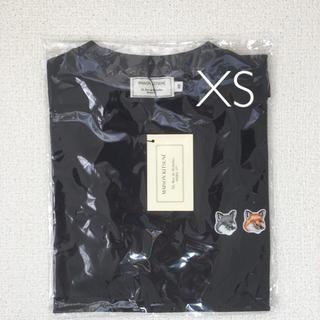 メゾンキツネ(MAISON KITSUNE')のメゾンキツネ 半袖 Tシャツ ブラック 黒 xs(Tシャツ(半袖/袖なし))