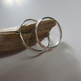 2個 2mmペア リング 6号~30号 シルバー 925 d576(リング(指輪))