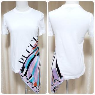 エミリオプッチ(EMILIO PUCCI)のEMILIO PUCCI エミリオプッチ Tシャツ カットソー 半袖 ホワイト(Tシャツ(半袖/袖なし))