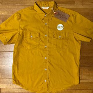 テンダーロイン(TENDERLOIN)の人気品! TENDERLOIN 半袖 シャツ マスタード ゴールド 黄 金 M(シャツ)