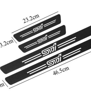 STI ドア プロテクター ガード カーボン調 ステッカー SUBARU スバル
