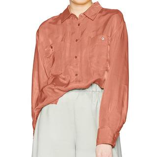 リリーブラウン(Lily Brown)のLily Brown リリーブラウン  サテンシャツ(シャツ/ブラウス(長袖/七分))