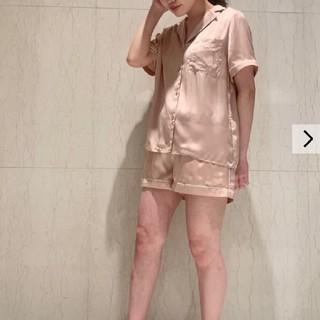 gelato pique - ジェラートピケ♡ロゴサテンシャツ&ショートパンツ