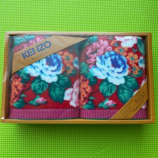 ケンゾー(KENZO)の【新品】KENZO フェイスタオル(タオル/バス用品)