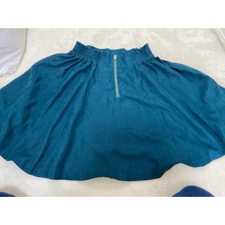 ジーユー(GU)のスカート 深緑(ミニスカート)