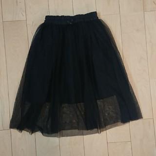 ジーユー(GU)のGU チュールスカート 110 黒(スカート)