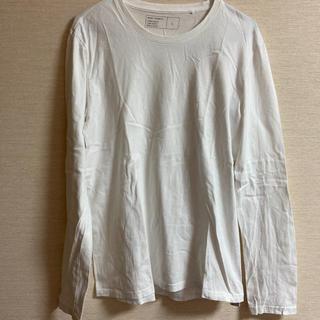 ジーユー(GU)のGU メンズ白Tシャツ長袖 クルーネック(Tシャツ/カットソー(七分/長袖))