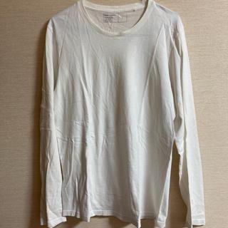ジーユー(GU)のGU メンズ白Tシャツ長袖 クルーネック②(Tシャツ/カットソー(七分/長袖))
